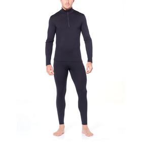 Icebreaker 200 Oasis T-shirt manches longues avec demi-zip Homme, black